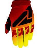 FXR Youth Clutch Strap MX Glove Hi Vis/Red