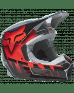 Fox V1 Trice Helmet Grey Orange