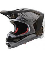 Alpinestars Helmet Supertech SM10 Alloy Silver Black Gold