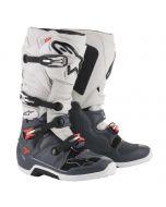 Alpinestars Boots Tech 7 Dark Gray Light Gray Red Fluo