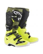 Alpinestars Boots Tech 7 Yellow Fluo Military Green Black