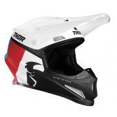 Thor Helmet Sector Racer White Red Blue