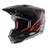 Alpinestars S5 Compass Alpinestars Helmet Black Fluo Orange