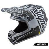 Troy Lee Designs SE4 Polyacrylite Helmet Factory Silver