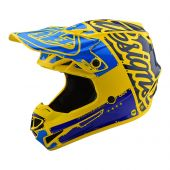 Troy Lee Designs SE4 Polyacrylite Helmet Factory Yellow Blue