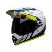 BELL MX-9 Adventure Mips Helmet Dash Gloss White/Blue/Hi-Viz