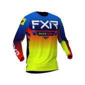 FXR Helium MX Jersey Blue/Hi Vis/Red
