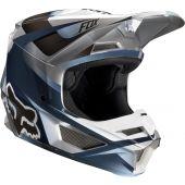 Fox Youth V1 MOTIF Helmet Blue Grey