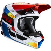 Fox Youth V1 YORR Helmet Blue Red