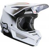 Fox Youth V2 VLAR Helmet White