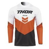 THOR JERSEY SECTOR CHEV CHARCOAL/RED/ORANGE