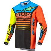 Alpinestars Youth Racer Compass Black/Yellow/Coral Gear Combo