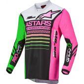 Alpinestars Youth Racer Compass Black/Green/Pink Gear Combo
