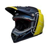 BELL Moto-9 Flex Helmet Husqvarna Gotland Matte/Gloss Blue/Hi-Viz