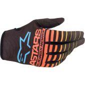 Alpinestars Glove Youth Radar Black/Yellow/Coral