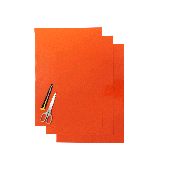BLACKBIRD COLOURED CRYSTALL SHEETS 47X33 CM 3PK FLUO ORANGE
