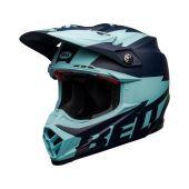 BELL Moto-9 Flex Helmet Breakaway Matte Navy/Light Blue