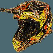 Airoh MX Helmet Aviator 2.3 Fame AMS Orange Gloss