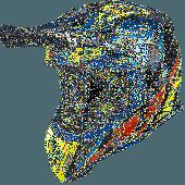 Airoh MX Helmet Aviator 2.3 Great AMS Blue Chrome