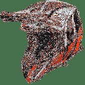 Airoh MX Helmet Aviator 2.3 Great AMS Orange Gloss