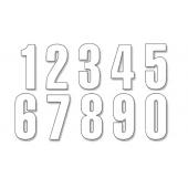 BLACKBIRD THREE SERIES NUMBER #0-9 SET ADHESIVE WHITE