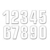 BLACKBIRD TWO SERIES NUMBER #0-9 SET ADHESIVE WHITE