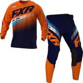 FXR Clutch MX Orange Midnight Blue Gear combo