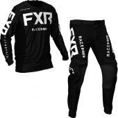 FXR Podium MX Black White Gear combo