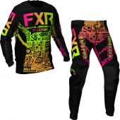 FXR Youth Podium MX Sherbert Aztec Gear combo