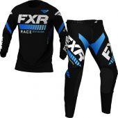 FXR Youth Pro-Stretch MX Black Blue Gear combo