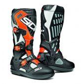 Sidi Atojo SRS Boots White Black Orange Fluo