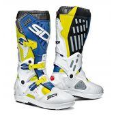 Sidi Atojo SRS Boots Yellow Fluo White Blue