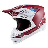 Alpinestars Helmet Supertech SM8 Contact Dark Red White
