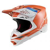 Alpinestars Helmet Supertech SM8 Contact Orange Gray