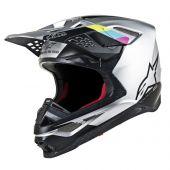 Alpinestars Helmet Supertech SM8 Contact Silver Black