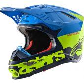 Alpinestars Helmet Supertech SM8 Radium Aqua Yellow