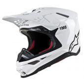 Alpinestars Helmet Supertech SM8 Solid Glossy White