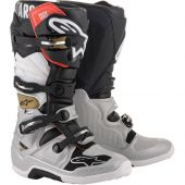 Alpinestars Boots Tech 7 Black Silver White Gold