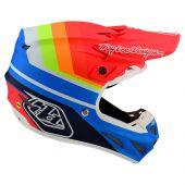 Troy Lee Designs SE4 Composite Helmet Mirage Blue Red
