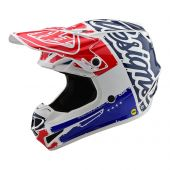 Troy Lee Designs SE4 Polyacrylite Helmet Factory Blue White