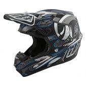 Troy Lee Designs SE4 Composite Eyeball Helmet Black Silver