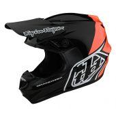 Troy Lee Designs GP BLOCK Helmet Black Orange