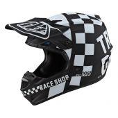 Troy Lee Designs SE4 Polyacrylite Checker Helmet Black White