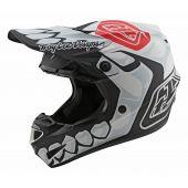 Troy Lee Designs SE4 Helmet Polyacrylite Skully White