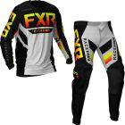 FXR Youth Podium MX Black Red Hi Vis Yellow Grey Aztec Gear combo