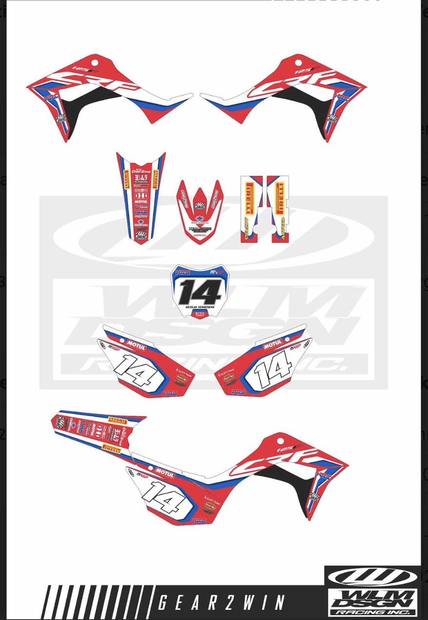 Gear2win custom sticker sets